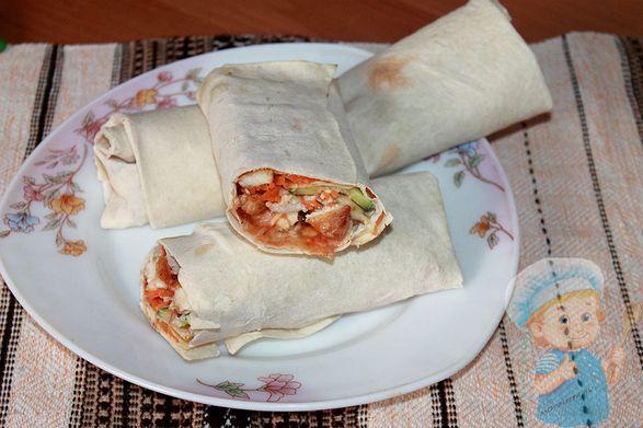 Как сделать домашнюю шаурму с курицей рецепт пошагово