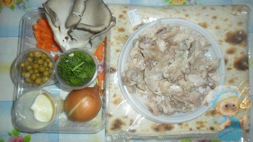 Рецептура лаваша с куриным филе