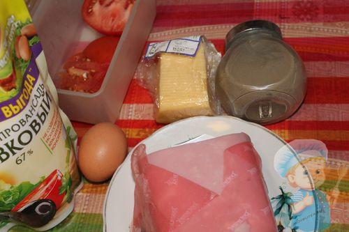 Рецептура тарталеток с ветчиной и сыром