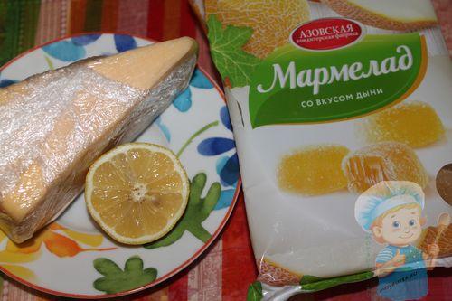 Ингредиенты для канапе с мармеладом