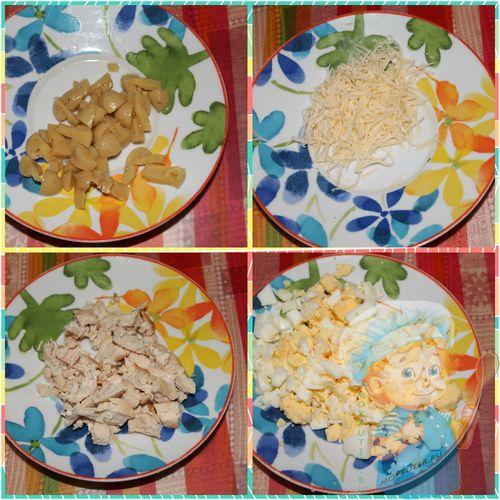 Этапы приготовления начинки для тарталеток