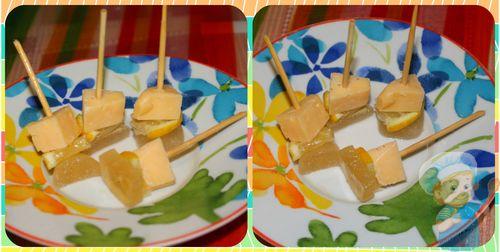 Канапе с сыром и лимоном
