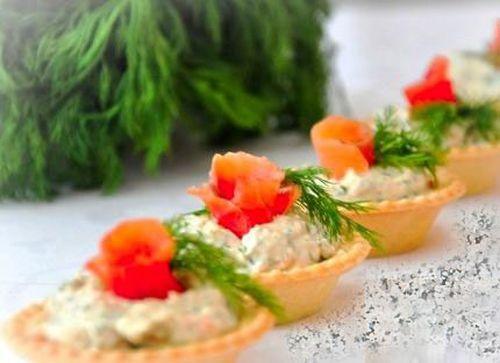 Тарталетки с сырным паштетом