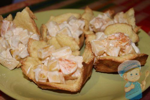 Детские тарталетки с фруктами