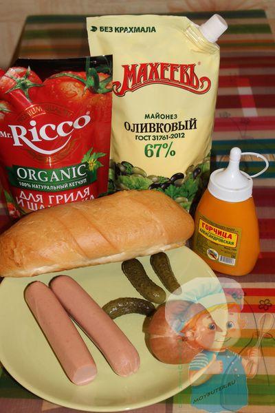 Продукты для датского хот-дога