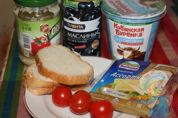 Продукты для бутербродов