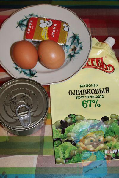 Продукты для тарталеток с консервированной рыбой