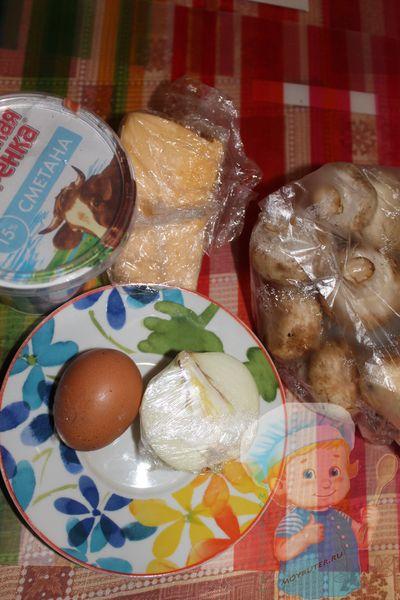 Продукты для жульена в тарталетках