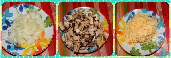 Подготовка ингредиентов для жульена