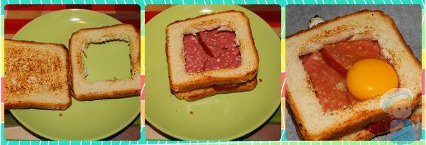 Этапы приготовления бутерброда