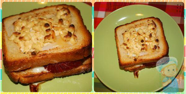 Готовый горячий бутерброд