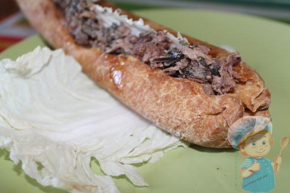 Домашний рыбный хот-дог