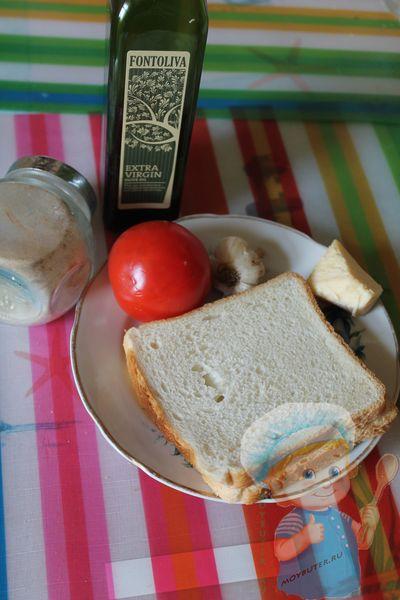 Брускетта из чиабатты с помидорами на электрогриле - рецепт пошаговый с фото