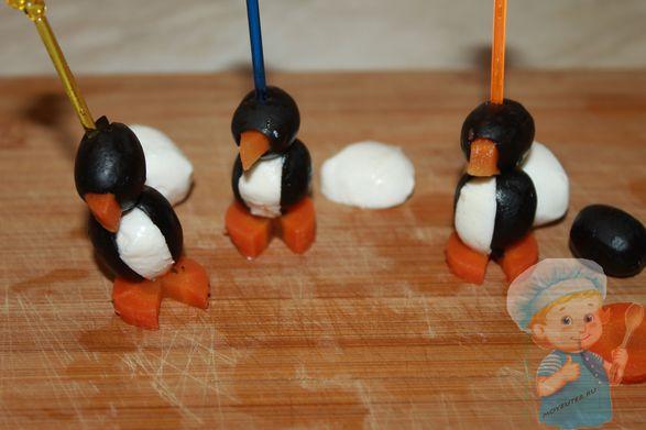 Канапе - пингвины