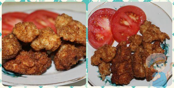 Наггетсы из курицы с овощами