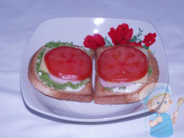 Слой из помидор