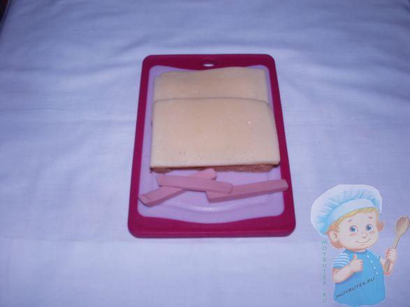 Слой сыра и червячки