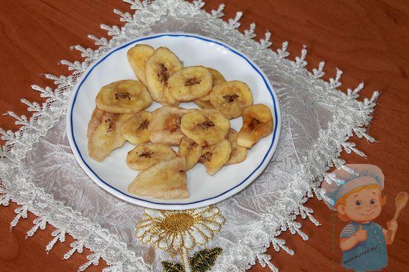 Банановые чипсы в духовке