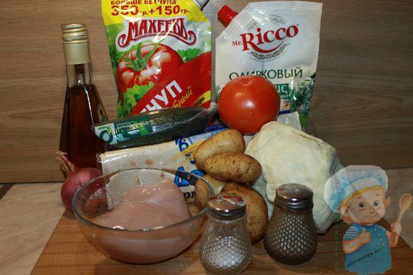 Продукты для картофельной шаурмы