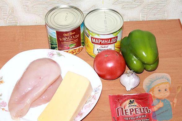 Продукты для буррито