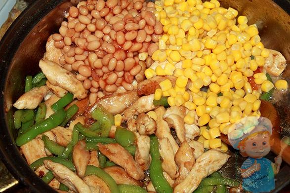 Кукуруза и фасоль