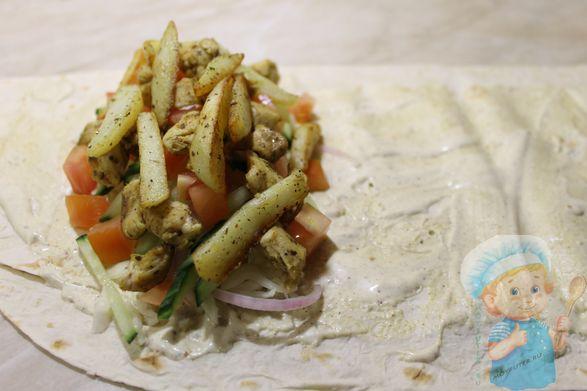 Картофель и мясо