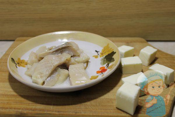 плавленный сыр и селедка
