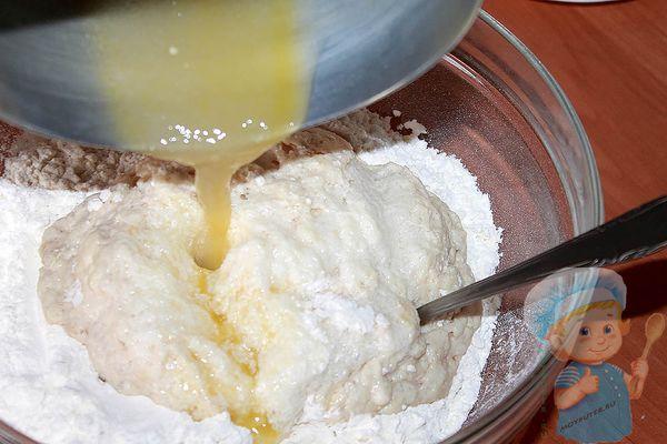 Масло в опару