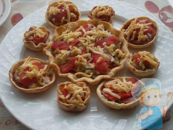 Мини пицца в тарталетках