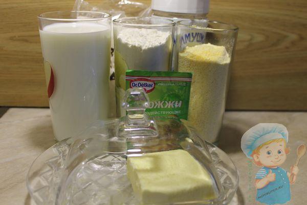 Ингредиенты для домашнего хлеба