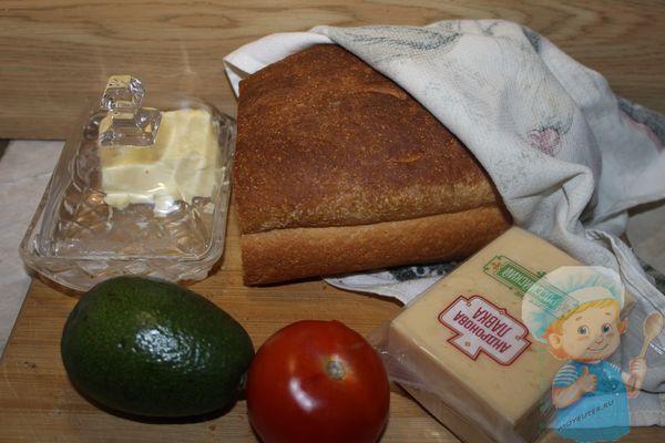 Продукты для тостов с авокадо