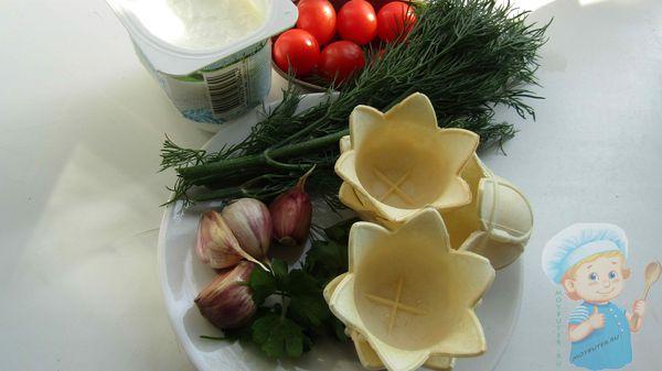 Ингредиенты для тарталеток с творожным сыром