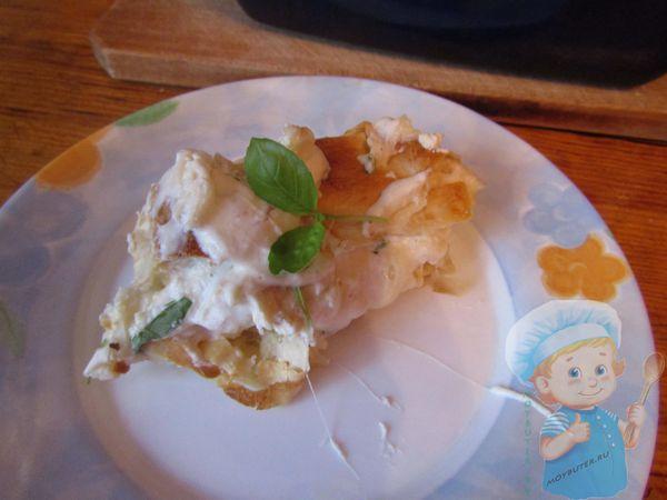 Пирог с рикоттой из лаваша