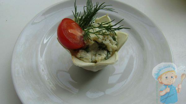 Запеченные тарталетки с сыром
