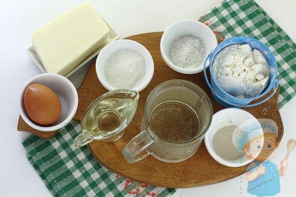 Продукты для хачапури по-мегрельски