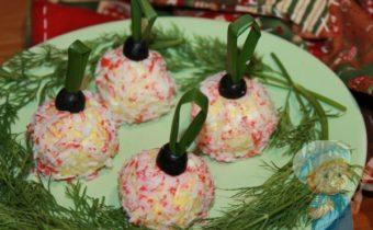 Праздничная закуска елочные шары рецепт с фото