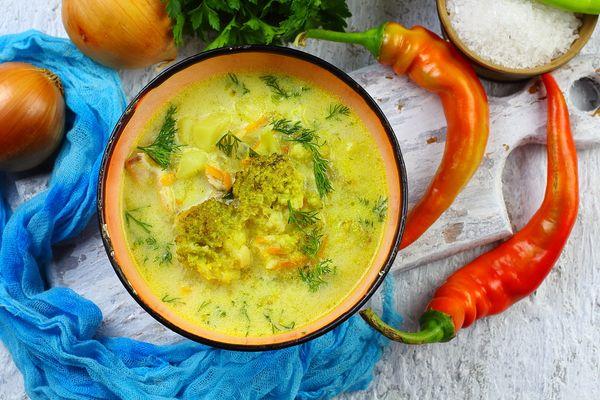 вкусный сырный суп с брокколи