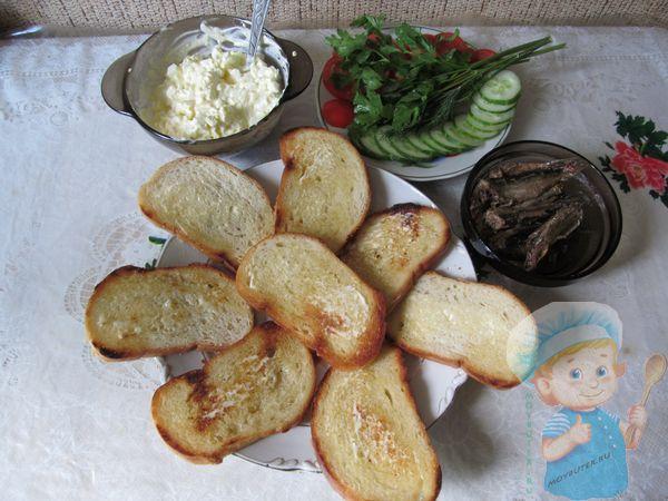 Гренки и начинка для бутербродов
