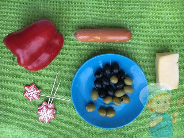Продукты для новогодних канапе