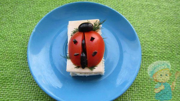 божья коровка - бутерброд на детский праздник