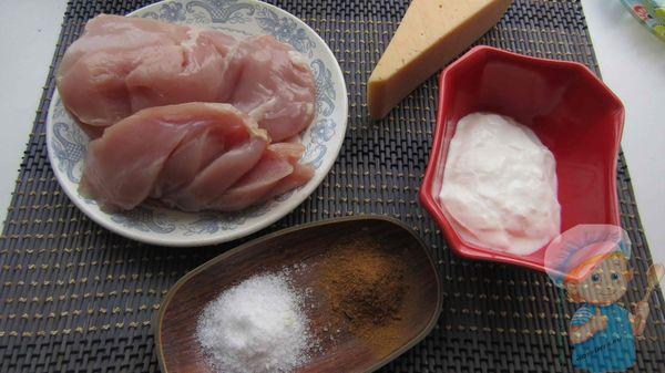 продукты для приготовления куриных рулетиков