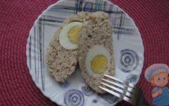 мясной рулет с яйцом рецепт с фото