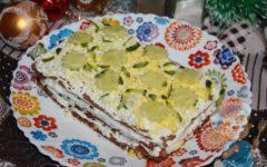 Закусочный торт из вафельных коржей рецепт с фото
